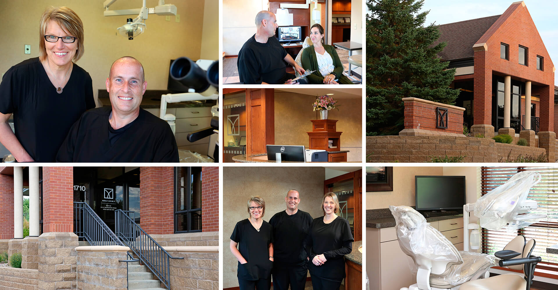 A collage of Dr. Lavin and his endodontic office