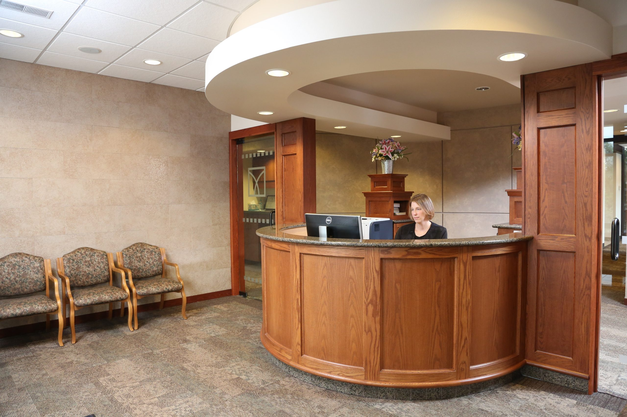 The front desk at Marshall T. Lavin DDS